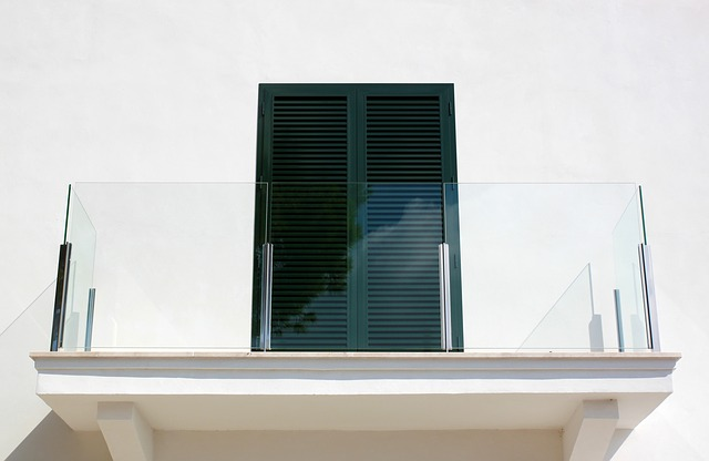 prosklený balkon
